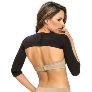 Leonisa Invisible Slimming Arm Shaper Black S/M